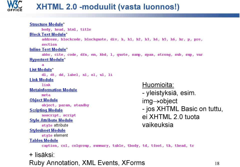img object - jos XHTML Basic on tuttu, ei