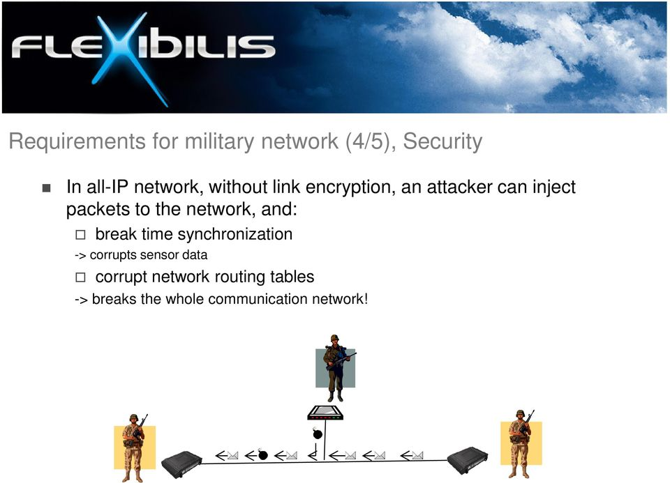 the network, and: break time synchronization -> corrupts sensor
