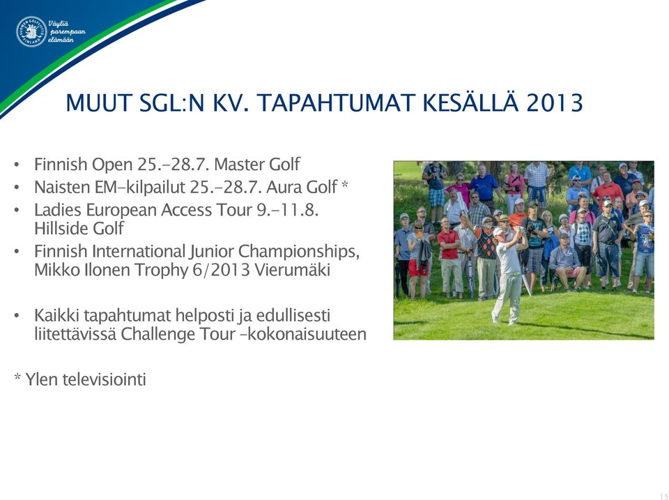 8. Hillside Golf Finnish International Junior Championships, Mikko Ilonen Trophy 6/2013