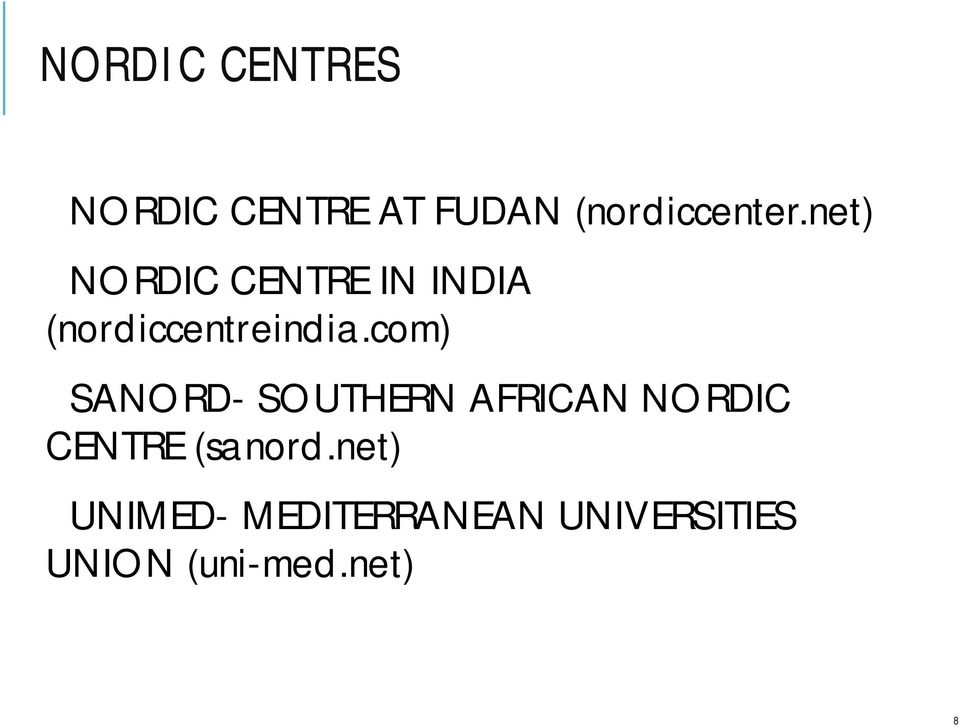 com) SANORD- SOUTHERN AFRICAN NORDIC CENTRE (sanord.