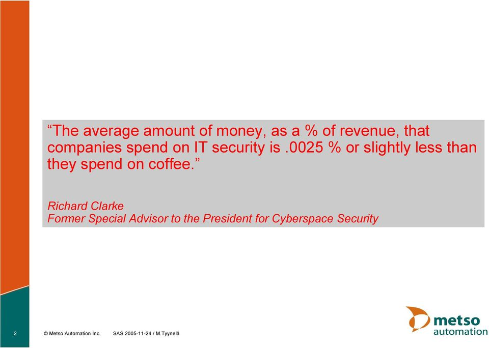 0025 % or slightly less than they spend on coffee.