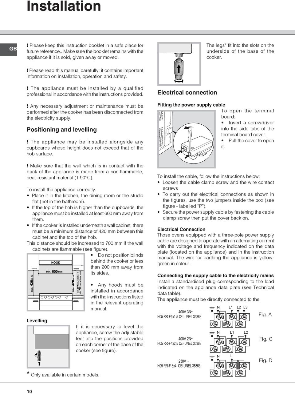 ! Please read this manual carefully: it contains important information on installation, operation and safety.