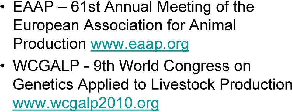org WCGALP - 9th World Congress on Genetics
