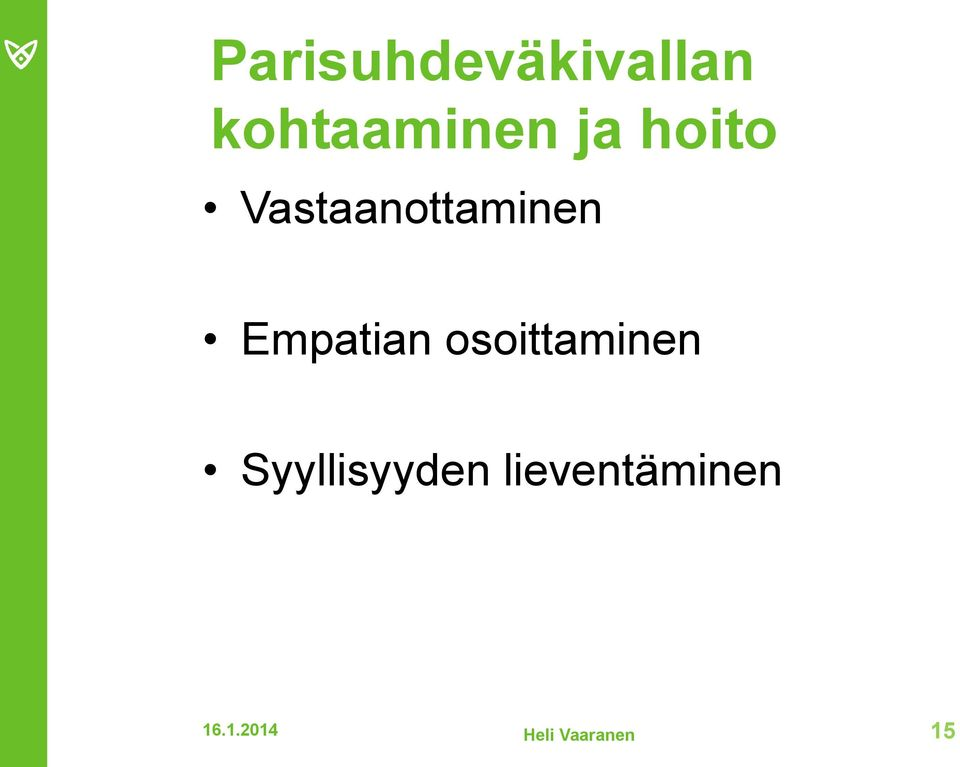 Empatian osoittaminen