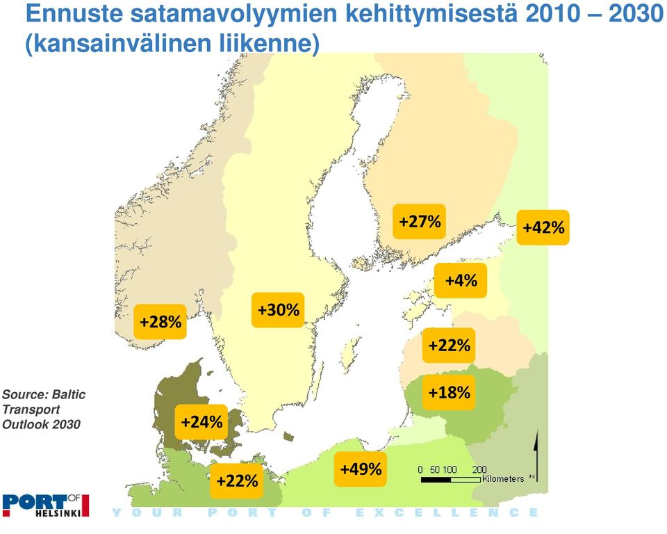 +42% +28% +30% +4% +22% Source: Baltic