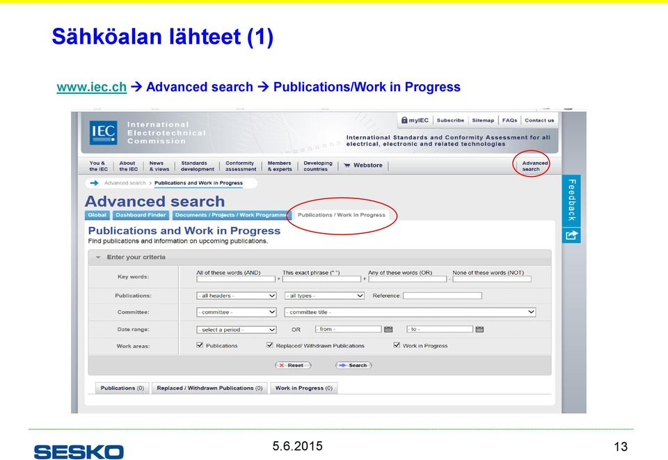 ch Advanced search
