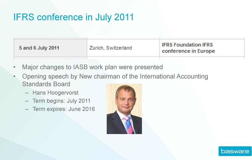 chairman of the International Accounting Standards