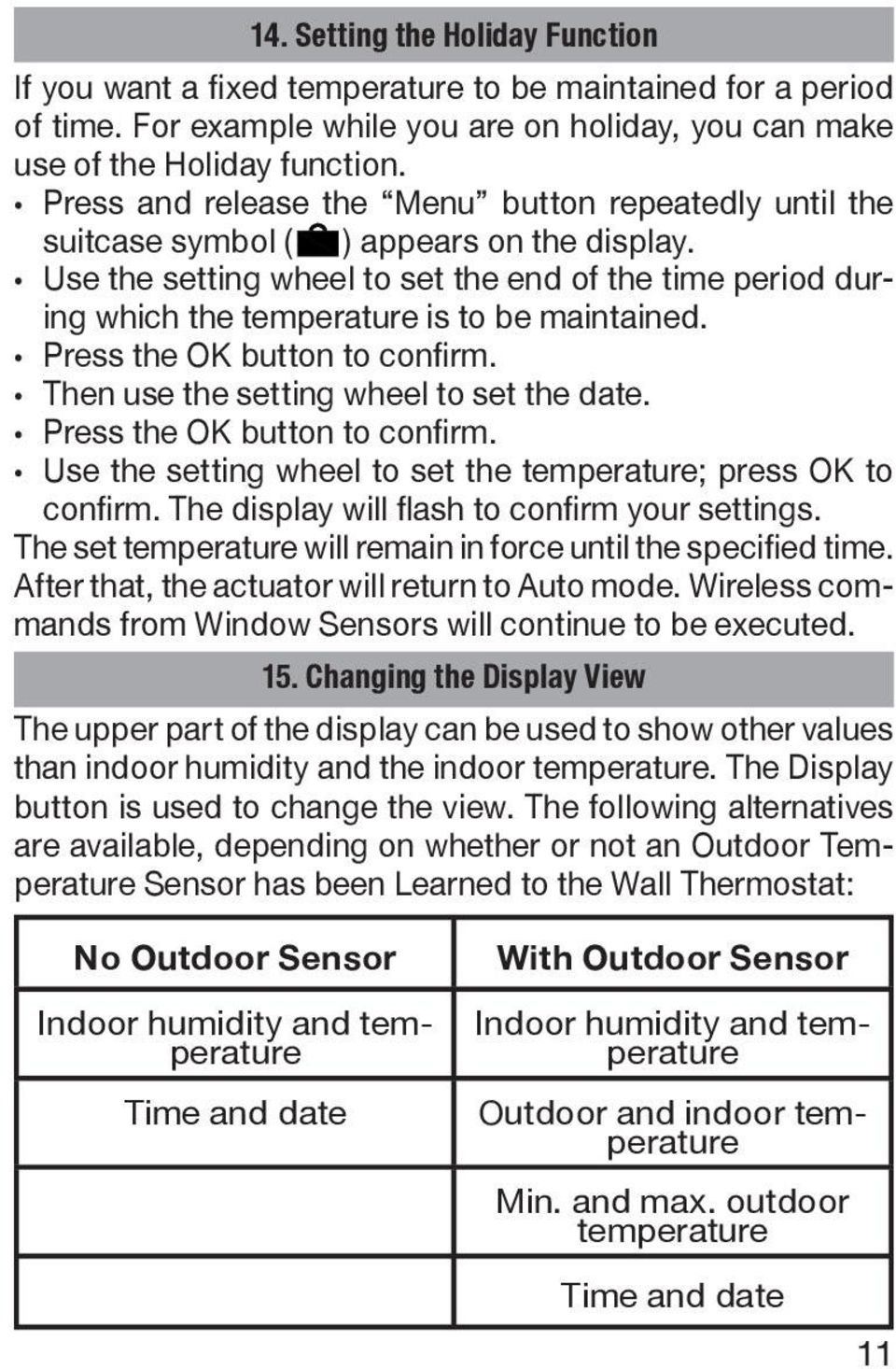 how to change thermostat to celsius no menu button