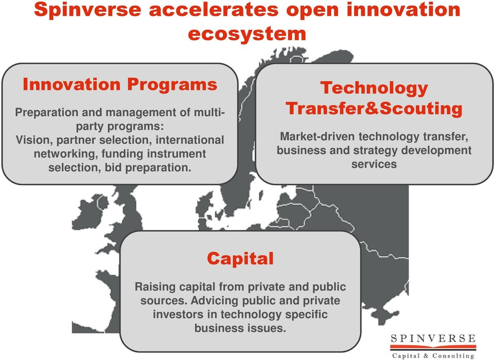 Technology Transfer&Scouting Market-driven technology transfer, business and strategy development services Capital