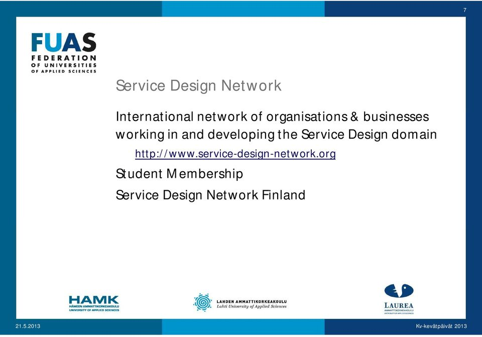 the Service Design domain http://www.