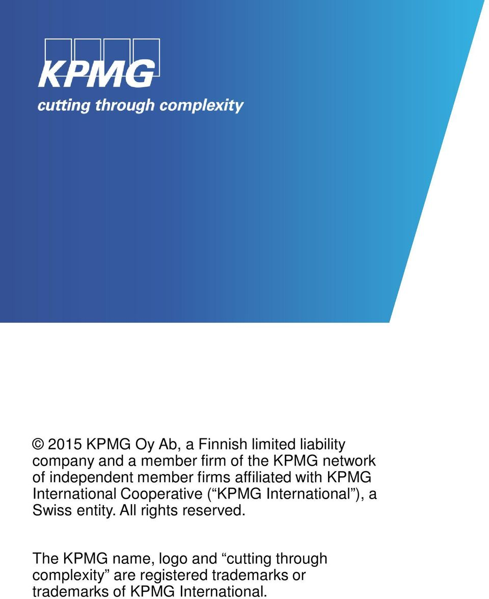 KPMG International ), a Swiss entity. All rights reserved.