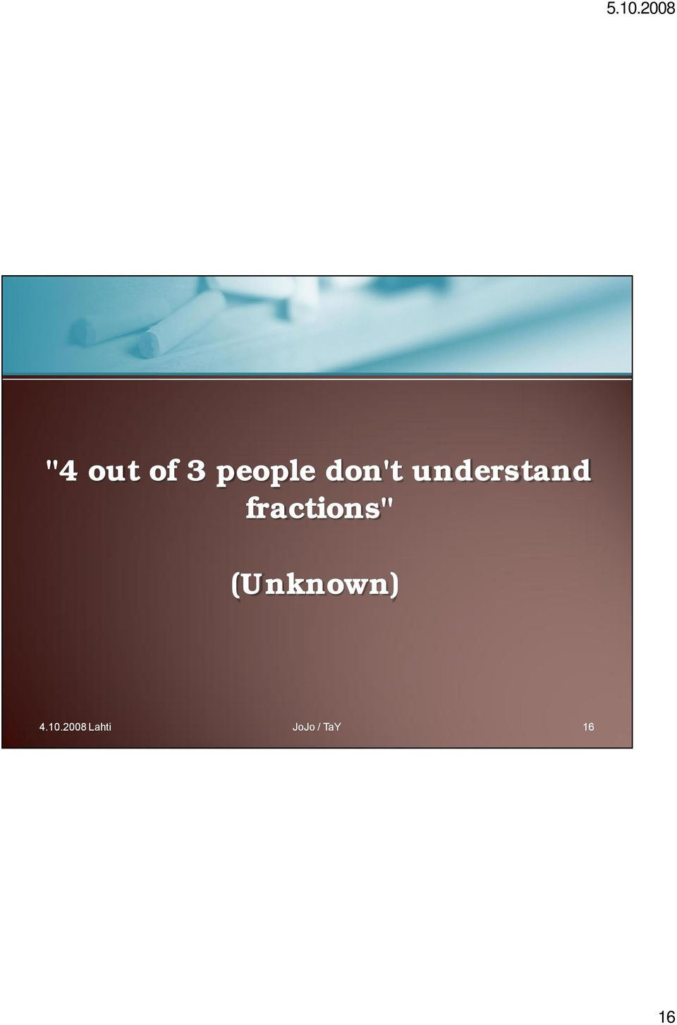 "fractions"" (Unknown) 4."