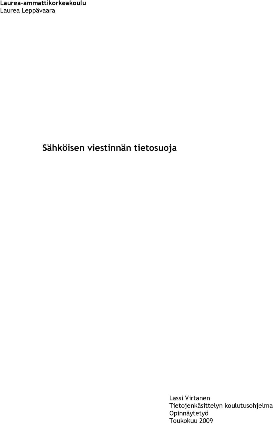 tietosuoja Lassi Virtanen