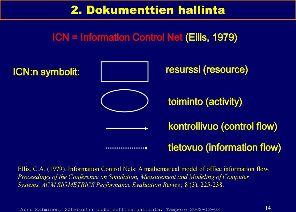Information Control Nets: A mathematical model of office information flow.