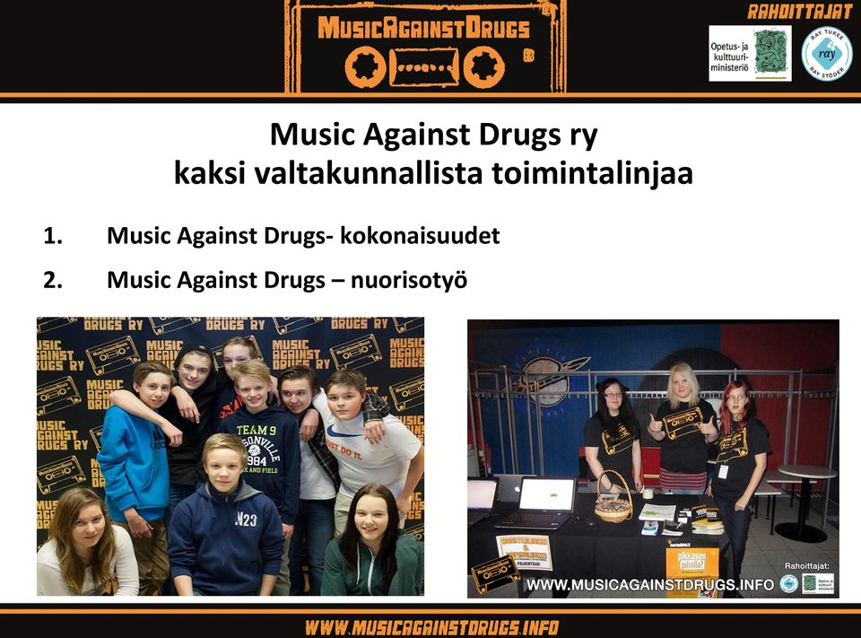 1. Music Against Drugs-