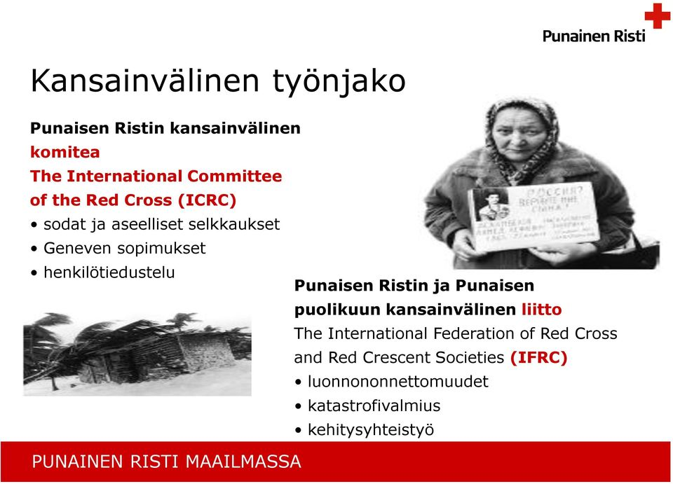 Ristin ja Punaisen puolikuun kansainvälinen liitto The International Federation of Red Cross and Red