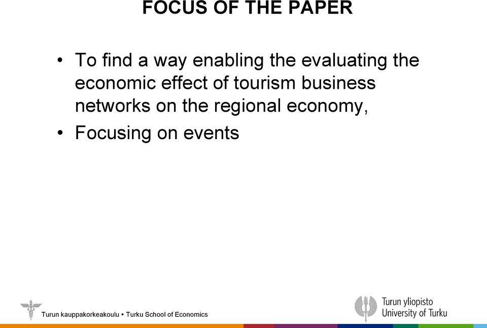 effect of tourism business networks