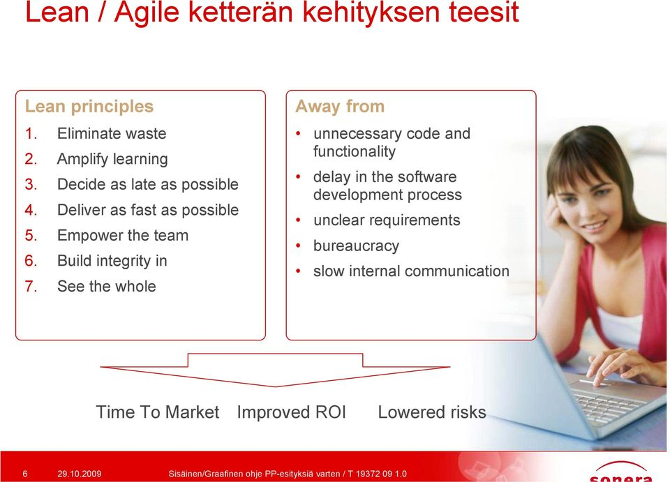 See the whole Away from unnecessary code and functionality delay in the software development process