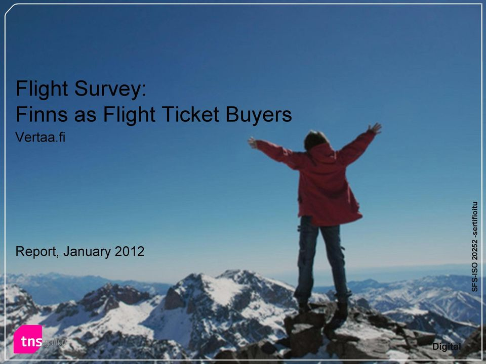 Flight Ticket Buyers Vertaa.
