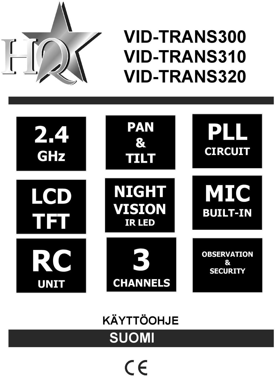 VISION IR LED 3 CHANNELS PLL CIRCUIT MIC