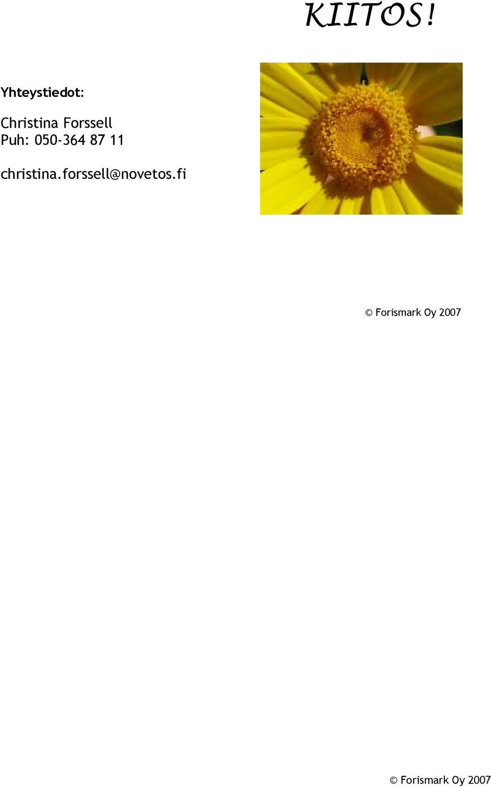 Christina Forssell