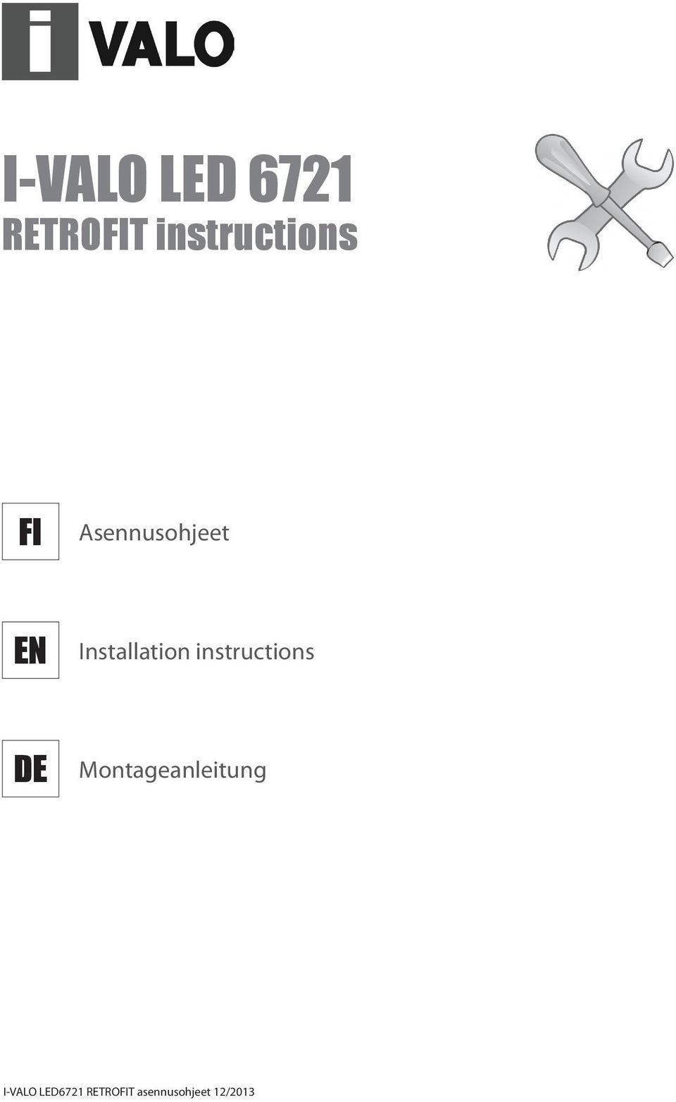 instructions DE Montageanleitung