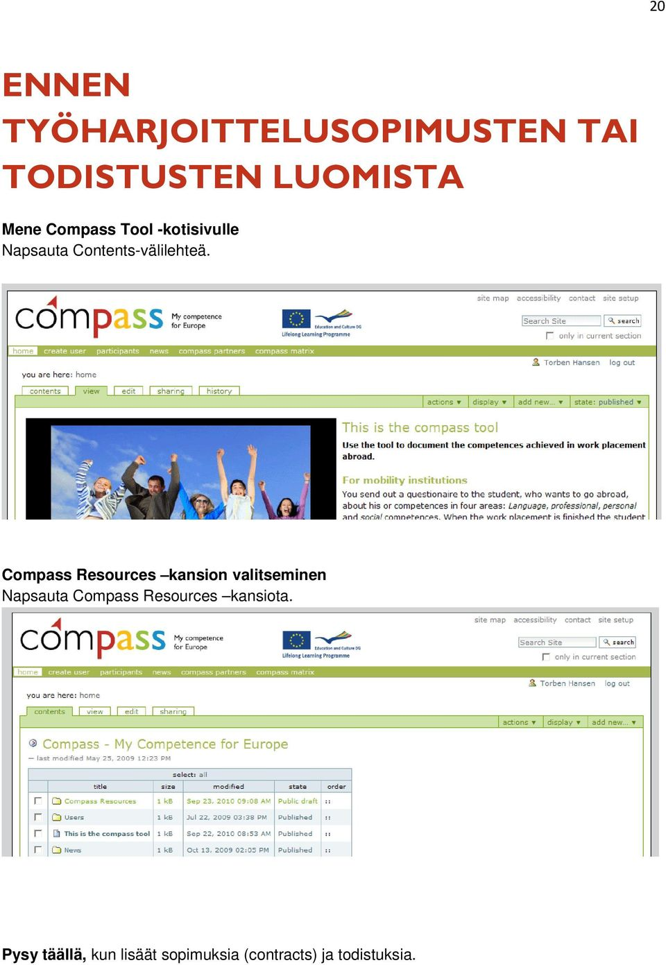 Compass Resources kansion valitseminen Napsauta Compass