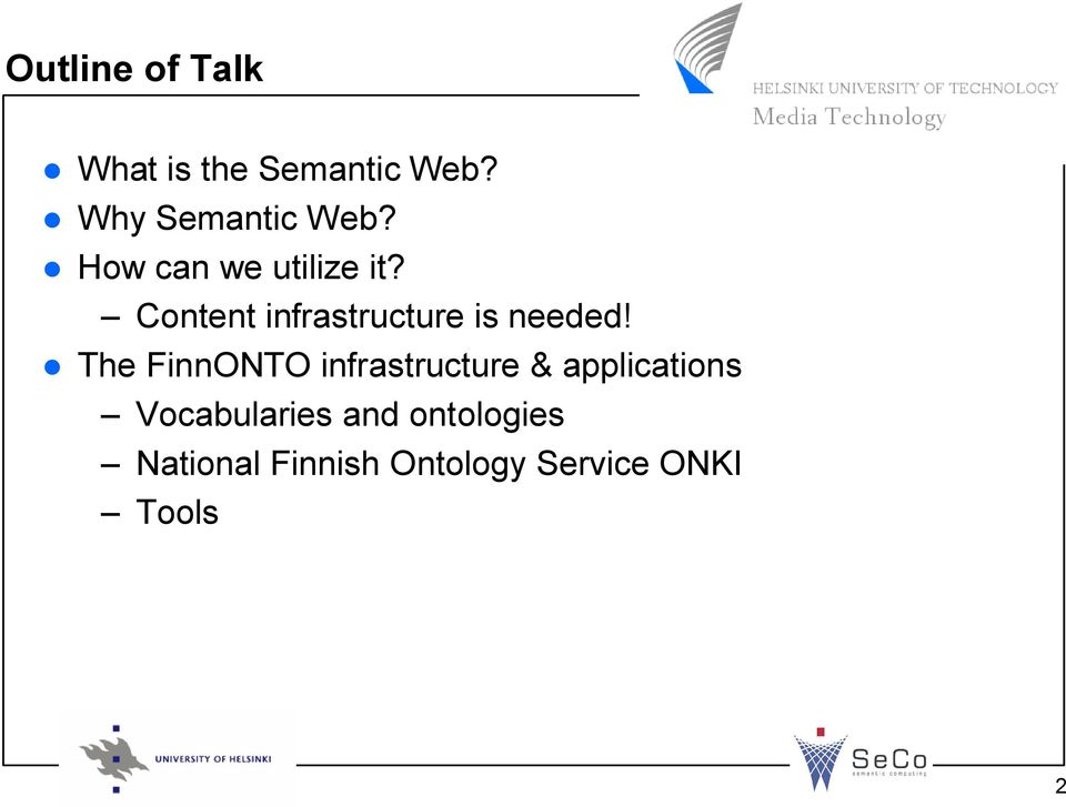 The FinnONTO infrastructure & applications Vocabularies