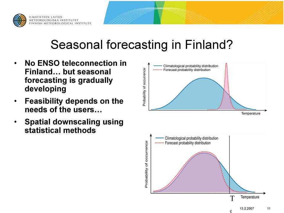 forecasting is gradually developing Feasibility depends