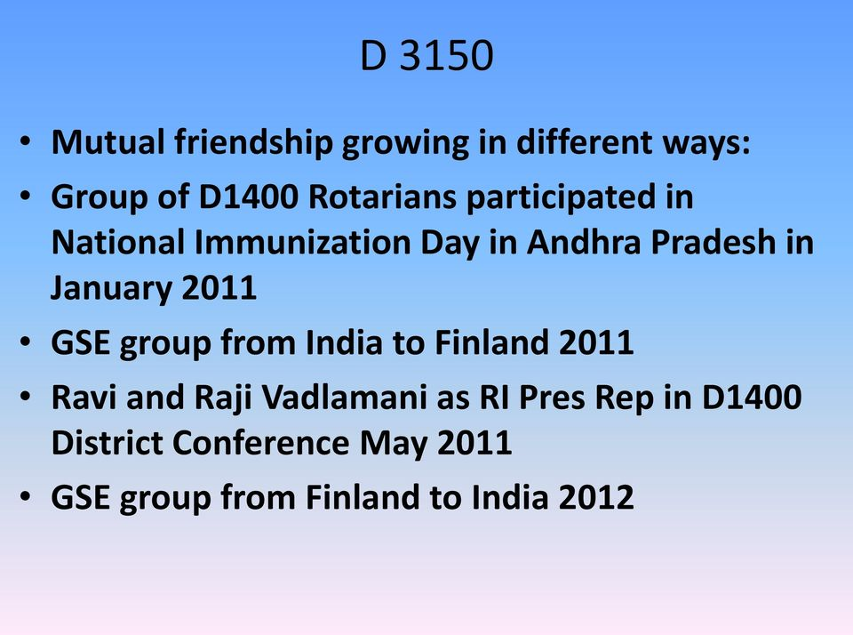 January 2011 GSE group from India to Finland 2011 Ravi and Raji Vadlamani