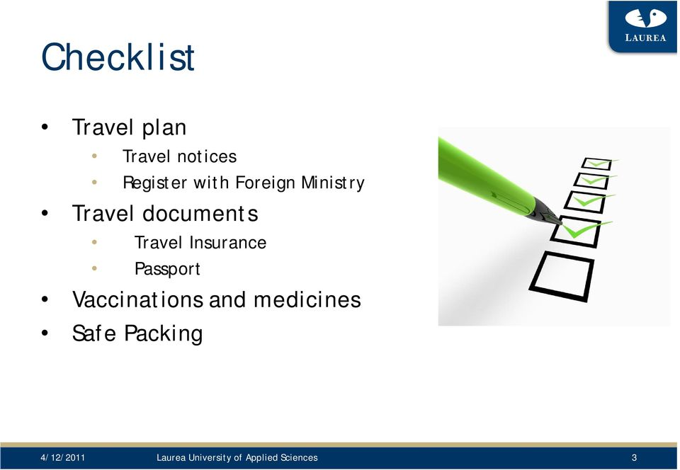 Insurance Passport Vaccinations and medicines