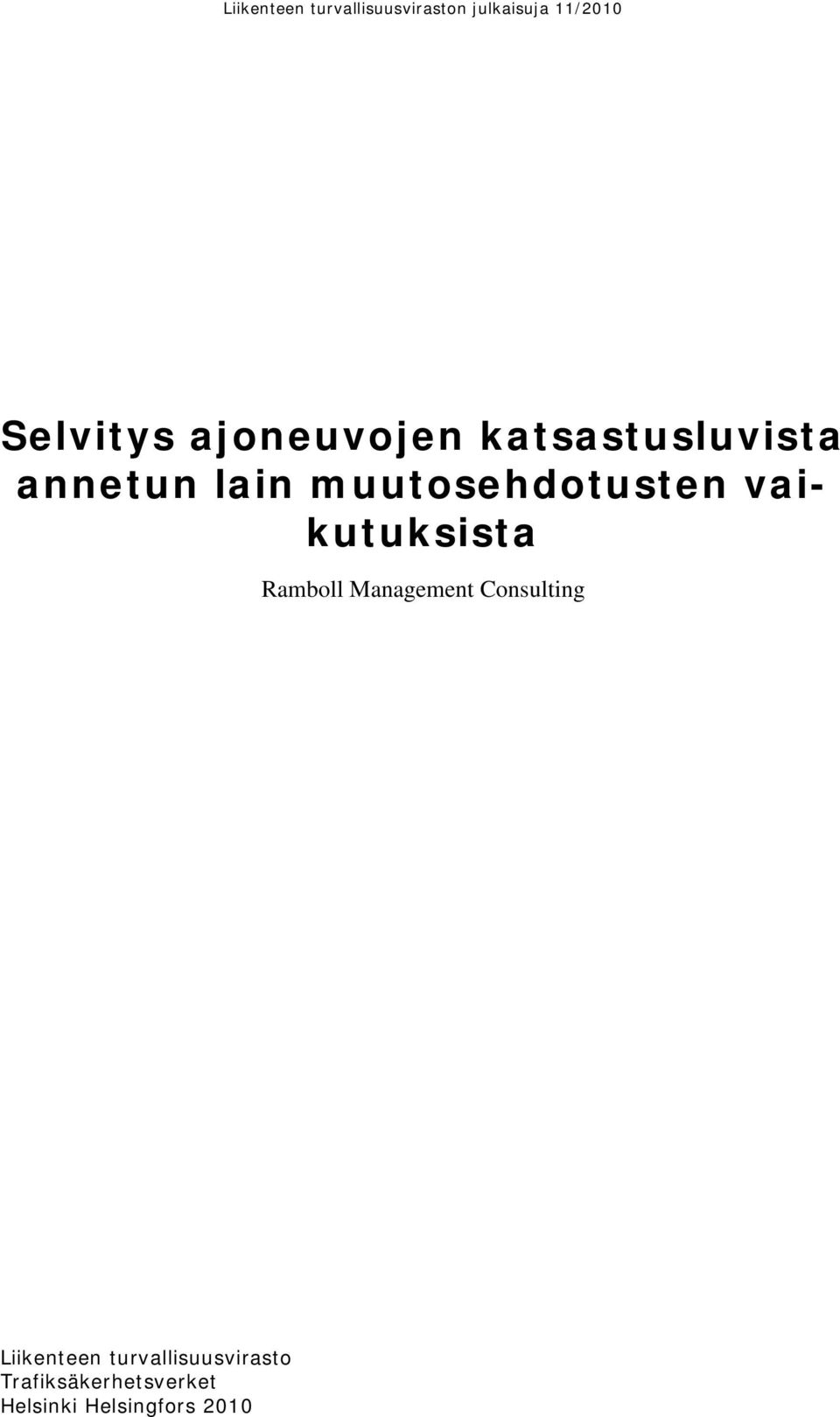 Management Consulting Liikenteen