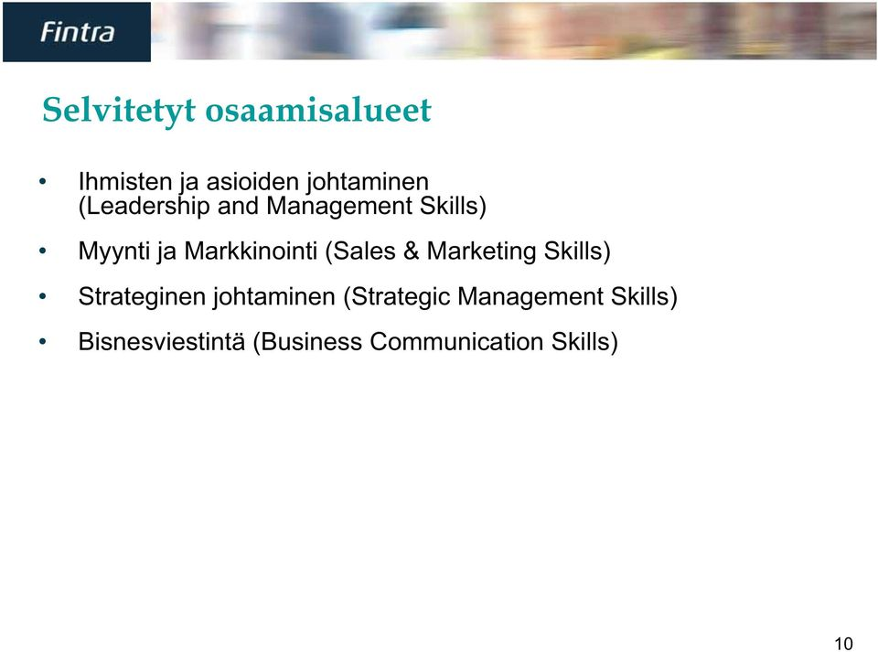 (Sales & Marketing Skills) Strateginen johtaminen (Strategic