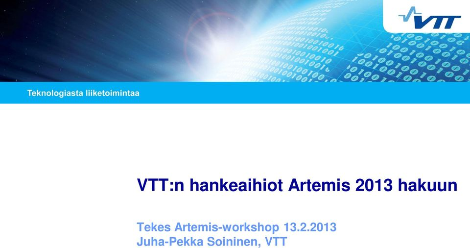 Tekes Artemis-workshop