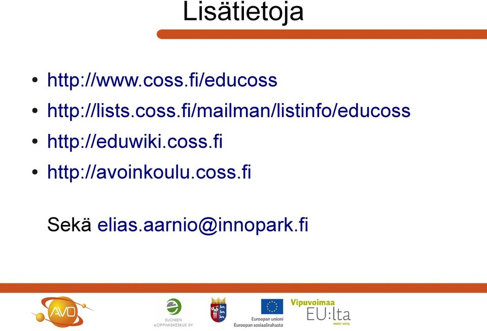 http://lists.coss.