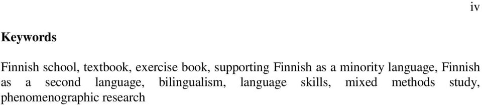 Finnish as a second language, bilingualism,