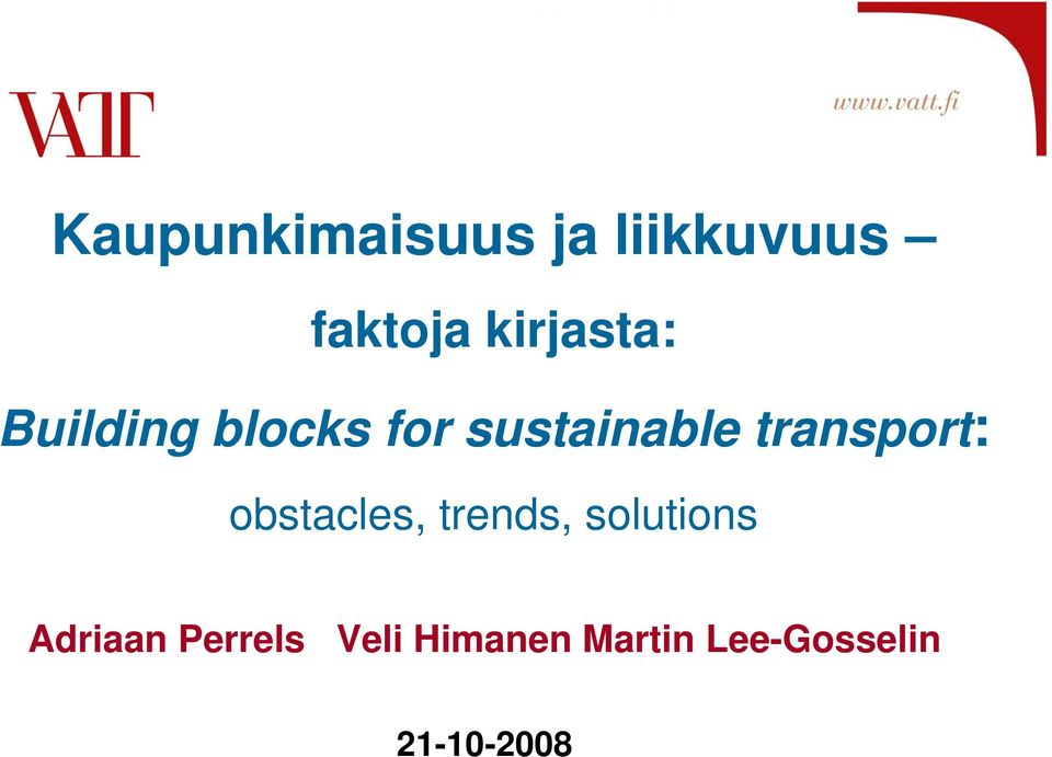 transport: obstacles, trends, solutions