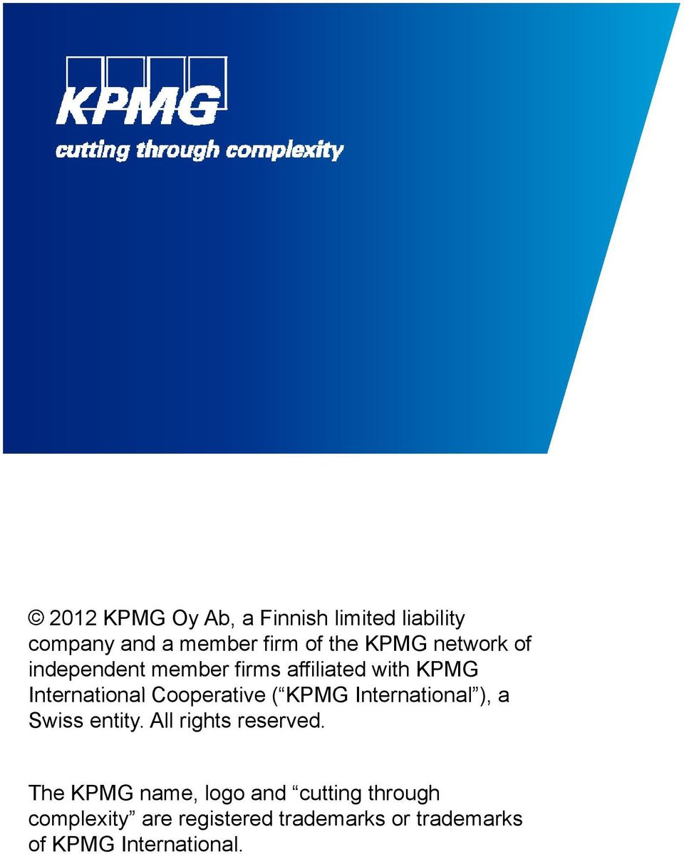 KPMG International ), ti a Swiss entity. All rights reserved.