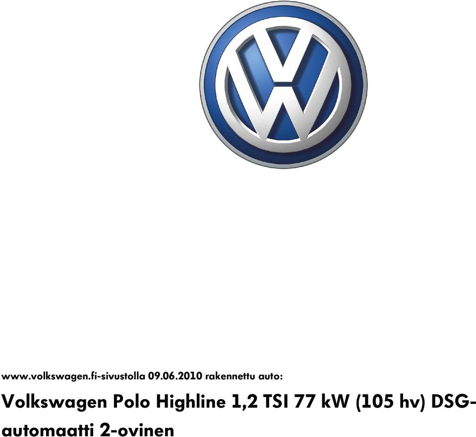 Volkswagen Polo Highline 1,2