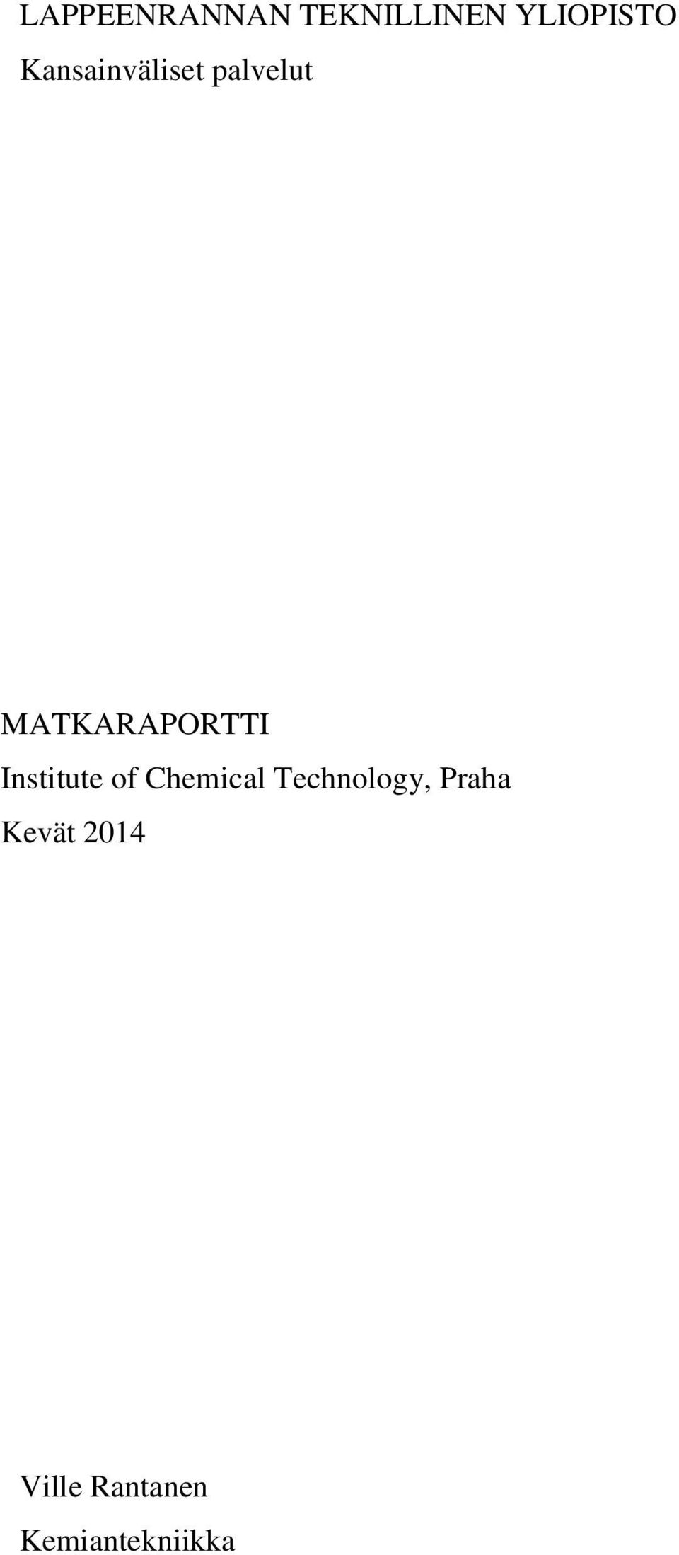 Institute of Chemical Technology,