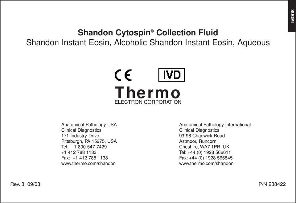 Fax: +1 412 788 1138 www.thermo.