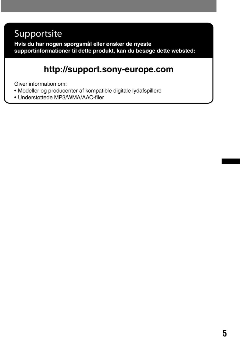 http://support.sony-europe.