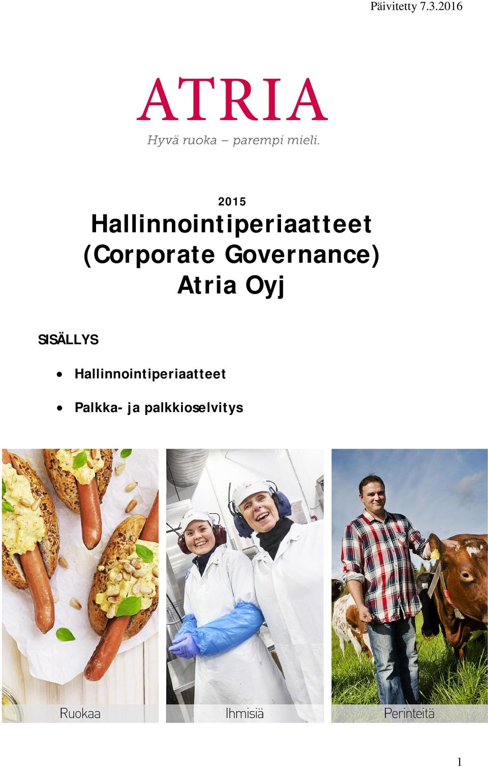 (Corporate Governance) Atria Oyj