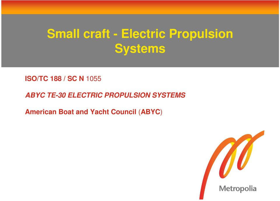 TE-30 ELECTRIC PROPULSION SYSTEMS