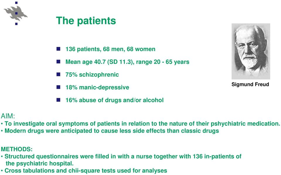 symptoms of patients in relation to the nature of their pshychiatric medication.