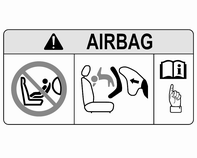 Istuimet, turvajärjestelmät 59 EN: NEVER use a rearward-facing child restraint on a seat protected by an ACTIVE AIRBAG in front of it; DEATH or SERIOUS INJURY to the CHILD can occur.