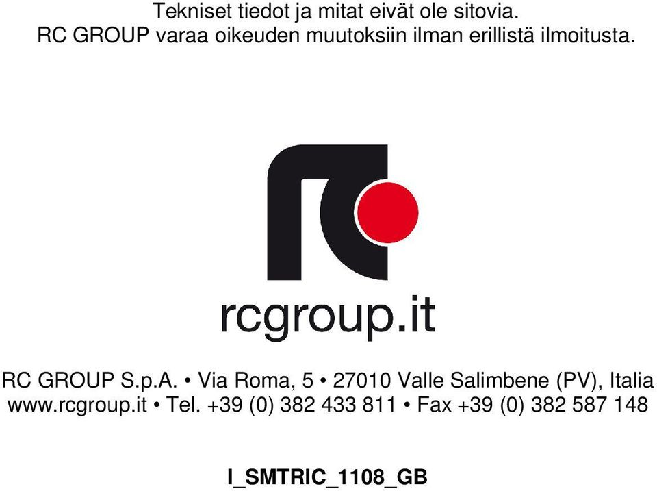 RC GROUP S.p.A.