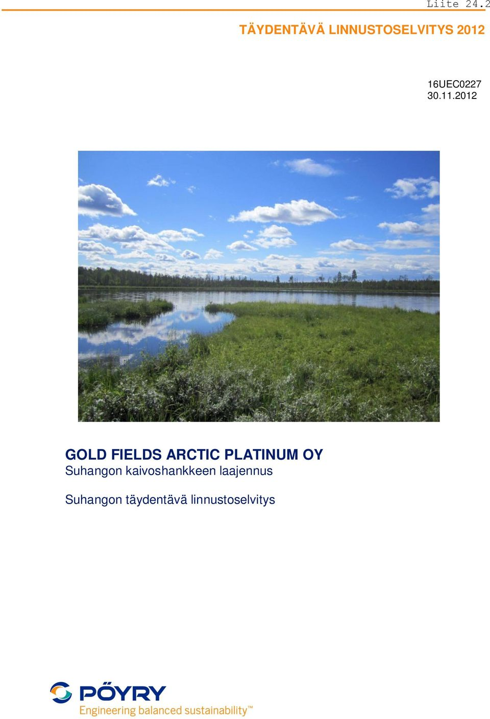 2012 GOLD FIELDS ARCTIC PLATINUM OY