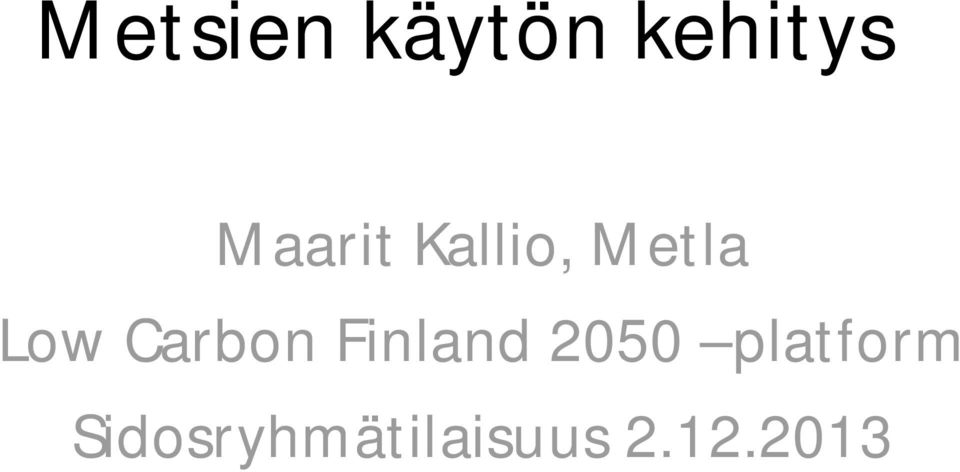 Carbon Finland 2050