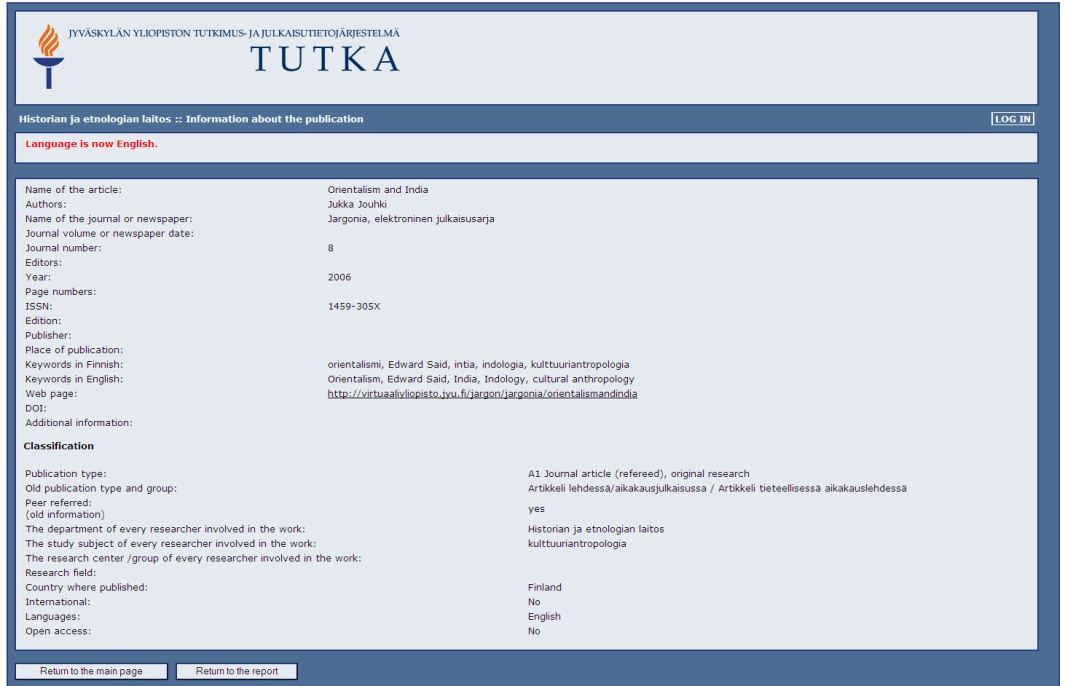 TUTKA Research database Enriched metadata Enriched